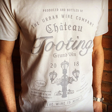 Men's Short-sleeved Chateau Tooting T-shirt (Grey)